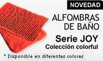 NOVEDAD - Alfombras de baño serie JOY Colección COLORFUL, disponible en varios colores